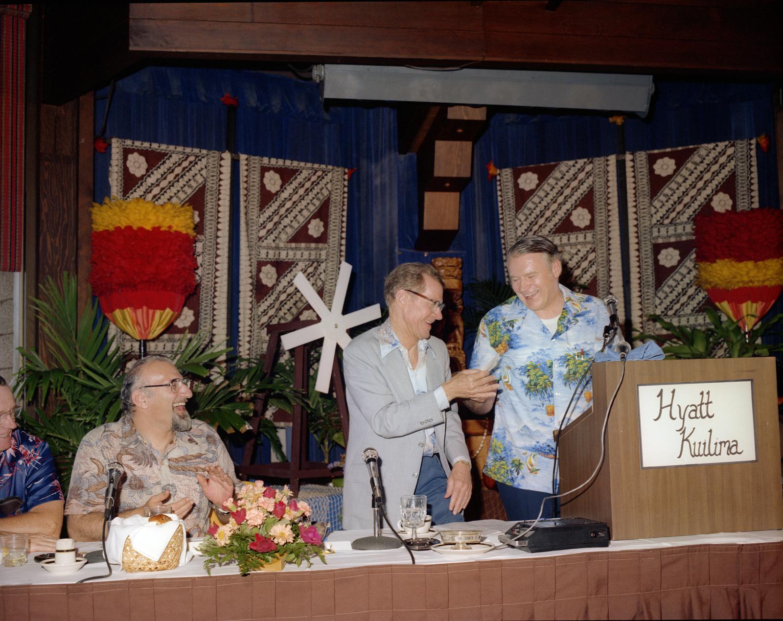 WIND TURBINE SITE DEDICATION AT KAHUKU OAHU HAWAII