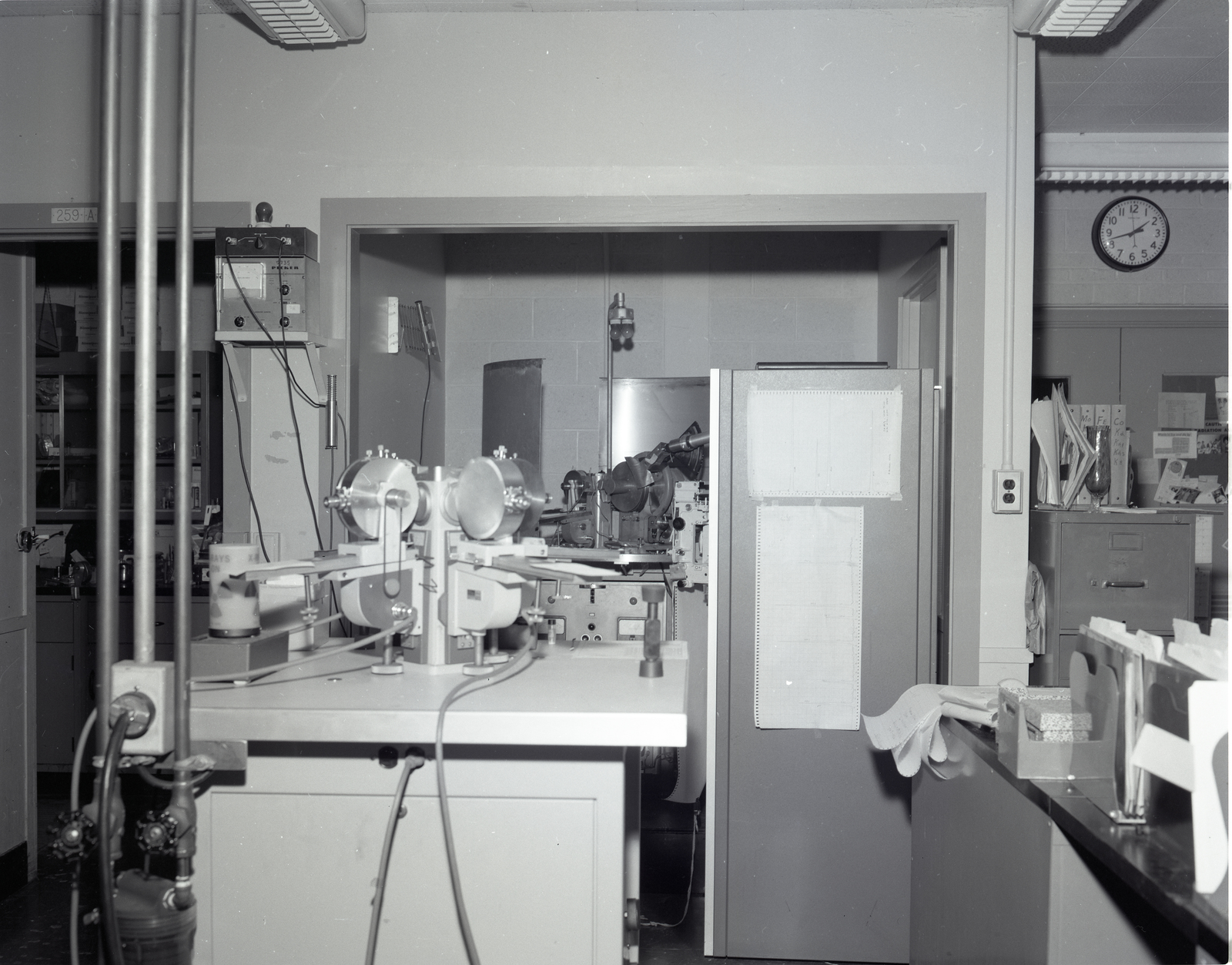 X-RAY LABORATORY - FURNACE ROOM - CREEP LABORATORY  IN THE MATERIALS AND STRESSES M&S BUILDING