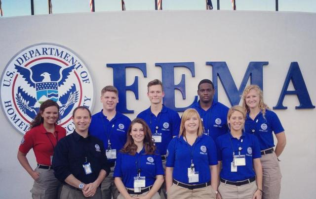 Anniston, Ala., May 2, 2013 -- Tundra 1 from NCCC Southwest Region FEMA Corps working with the IMAT Academy Staff to run/develop the first IMAT Academy Training Program at the Center for Domestic Preparedness.Starting From Left to Right Back Row (Kelly, Mix ΓÇô Team Lead, Ben Selin, Edvard Pubols, Roderick Wells, Rebecca Beckham) Top Row (Justin Dombrowski - Region 9, Nicole LeBlanc, Katherine Wood, Bethany Koniarczyk)