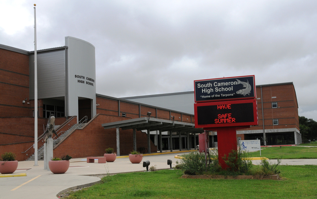 Cameron Parish, La., July 21, 2013 -- Nearly $26.9 million funded the new South Cameron High School in Grand Chenier. The high school was elevated to meet floodplain requirements and has been structurally designed to mitigate damages from possible future disasters. Lillie Long/FEMA
