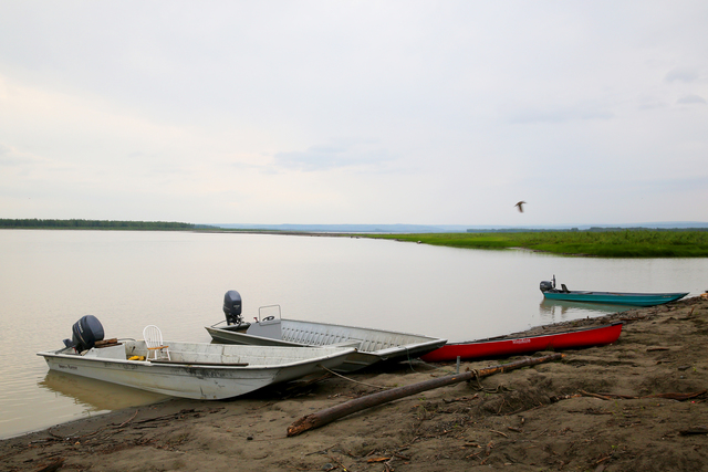 Circle, AK, July 16, 2014 -- Native Alaskans use river transport to the fishing and hunting grounds as a subsistence way of life. FEMA uses Other Needs Assistance (ONA) when those transportation routes are fractured by heavy flooding and interupt their subsistence lifestyle. Adam DuBrowa/ FEMA