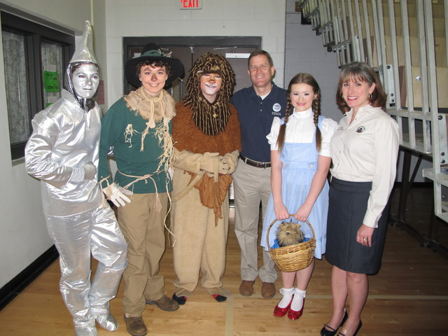 Grapevine, Texas, April 30, 2014 -- Students from Grapevine-Colleyville ISD in Grapevine, TX creatively dress up as characters from the Wizard of Oz during a America's PrepareAthon! Day of Action tornado drill and pep rally at Cross Timbers Middle School On April 30