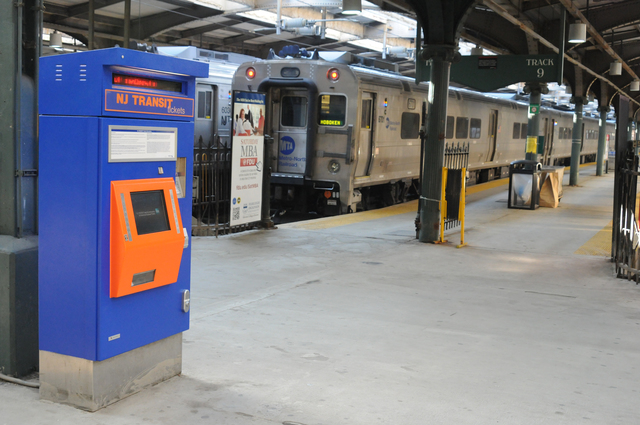 Hoboken, N.J., Nov. 23, 2012 -- At the New Jersey Transit Terminal, all ticket machines were destroyed by flooding from Hurricane Sandy and have been replaced. FEMA Public Assistance funds may reimburse a portion of recovery costs. George Armstrong/FEMA