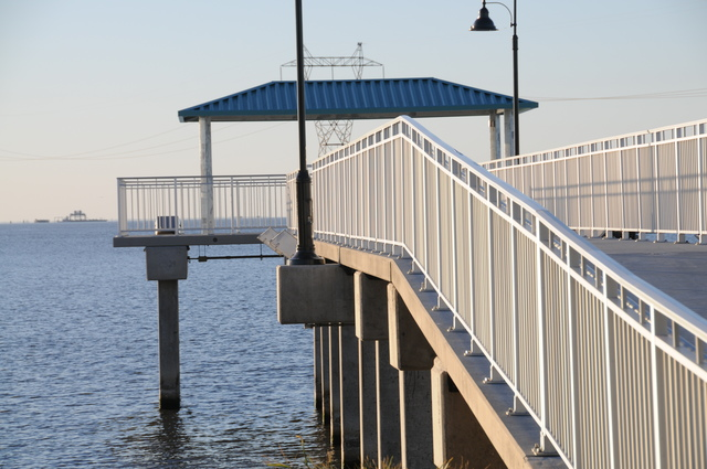Jefferson Parish, La., Oct. 15, 2010 -- Winds and storm surge caused severe damage to the City of Kenner's Laketown Boat Launch and Fishing Pier. The 5900-square-foot fishing pier was replaced with almost $1.3 million from the Federal Emergency Management Agency. Stephanie Moffett/FEMA