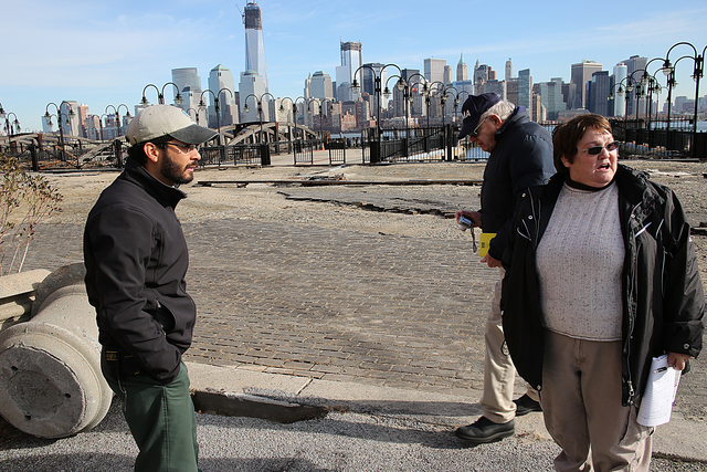 Jersey City, N.J., Dec. 5, 2012 -- The Liberty State Park managers and the FEMA Public Assistance (PA) Task Force tour the park facilities and assess the damages.Through the PA Program, FEMA provides supplemental Federal disaster grant assistance for debris removal, emergency protective measures, and the repair, replacement, or restoration of disaster-damaged, publicly owned facilities and the facilities of certain Private Non-Profit (PNP) organizations. Adam DuBrowa/FEMA