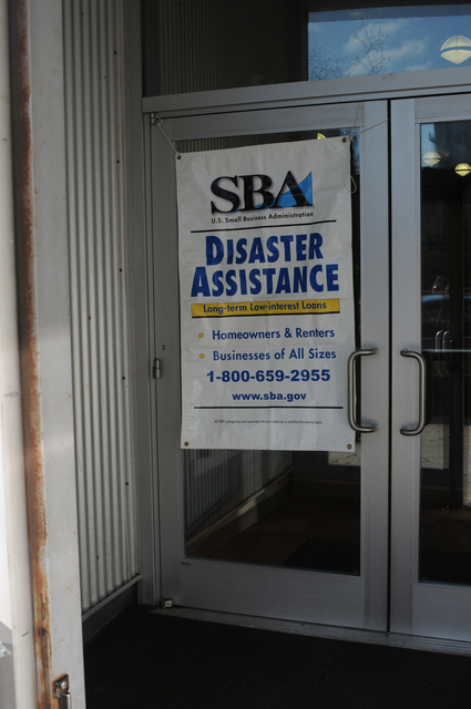 Jersey City, N.J., Nov. 28, 2012 -- The Small Business Administration (SBA) Business Recovery Center is open at the New Jersey City University Business Development Incubator to help eligible businesses recover from the impact of Hurricane Sandy. FEMA and the SBA are partners in disaster recovery assistance.  George Armstrong/FEMA