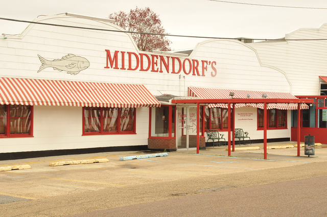 Manchac, La., Feb. 11, 2013 --  Middendorf's Seafood stands ready for business in Manchac, Tangipahoa Parish. Hurricane Isaac left several feet of water in the building during the Aug 29th storm; six months after cleaning and restoring, the local icon has resumed normal operations. FEMA/Mike Moore