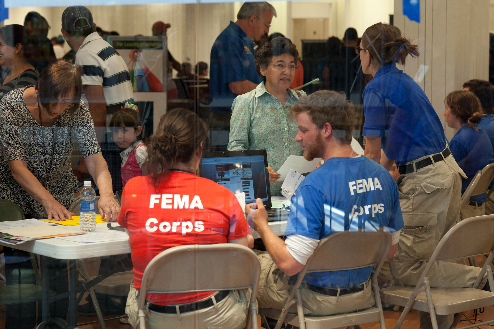 Moore, Okla , June 8, 2013 -- FEMA Corps members assist