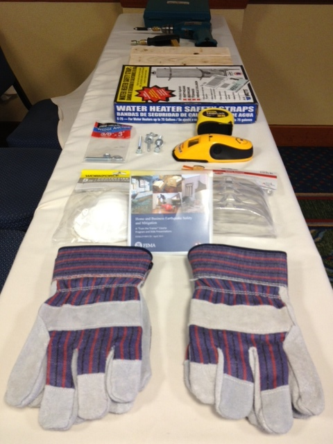 Seattle, Wash., May 2, 2013 -- Tools used during the course, FEMA P-909 Train-the-Trainer: Home and Business Earthquake Safety and Mitigation