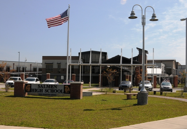 Slidell, La., April 26, 2013 -- FEMA provided $68.6 million to rebuild Salmen High School in St. Tammany Parish, which was destroyed by Hurricane Katrina. Manuel Broussard/FEMA