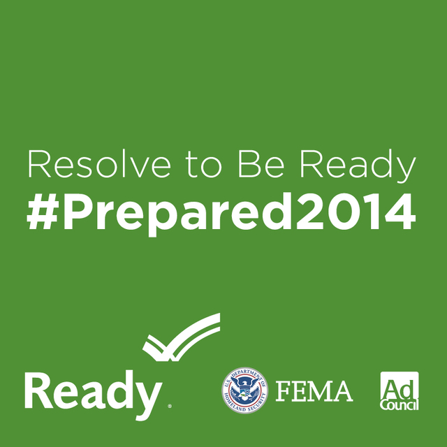 This year's Resolve to be Ready campaign focuses on 'Family Connection' to reinforce the importance of parents including their children in preparedness conversations in advance of potential disasters.  Use this square graphic to promote emergency preparedness