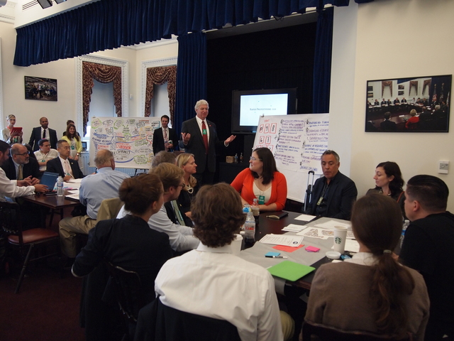 Washington, D.C., Aug. 27, 2013 -- FEMA Deputy Administrator Rich Serino participates in a White House and FEMA Innovation event. The White House Office of Science and Technology Policy (OSTP) and the Federal Emergency Management Agency (FEMA) jointly challenged a group of over 80 top innovators from around the country to come up with ways to improve disaster response and recovery efforts