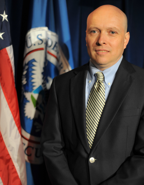 Washington, D.C., June 10, 2013 -- Michael Coen, FEMA's Acting Chief of Staff, in the FEMA Studio. FEMA/Aaron Skolnik