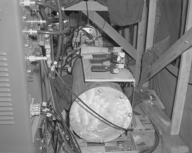Anti-proton setup. Photograph taken October 6, 1955. Bevatron-935