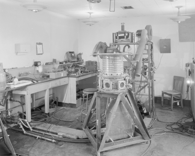 Building 10, lantern tank. View showing crowded research conditions. Photograph taken June 13, 1951