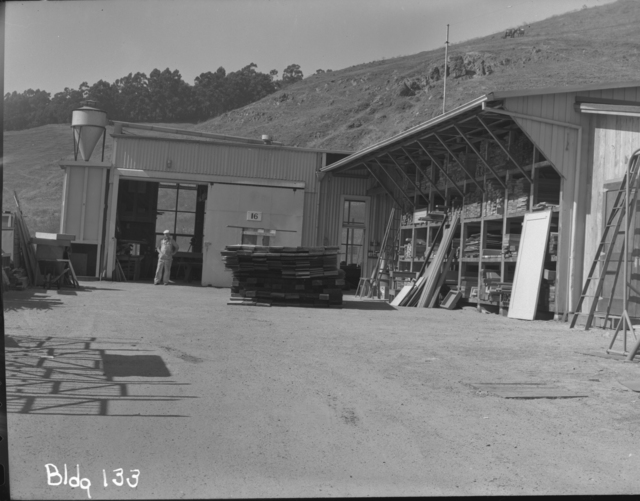 Building 16, Carpenter Shop. Photograph taken July 29, 1946. building-133
