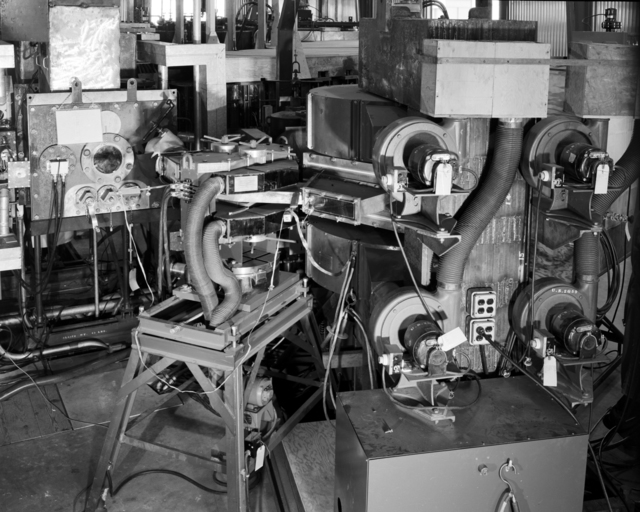 Cyclotron for 1/4 scale model bevatron. Photo taken August 19, 1949. Requested by Ed Lofgren. Bevatron Model-290. Briefly referred to as the Cyclodrome