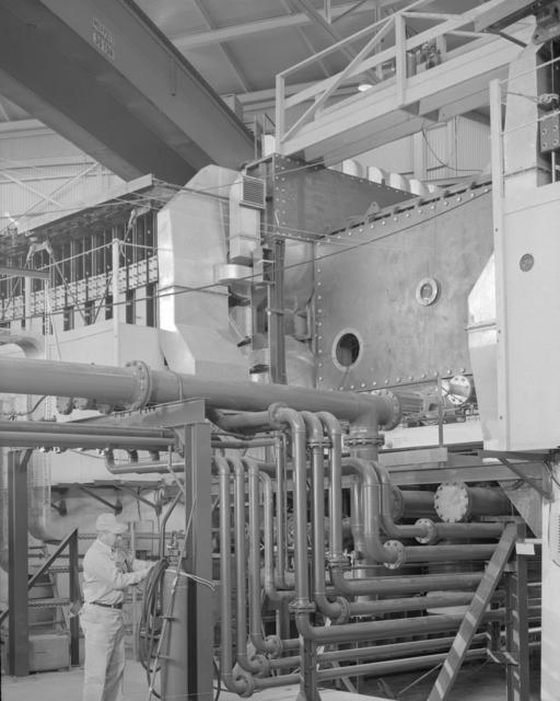 East tangent tank inner radius. Photograph taken December 14 1953. Bevatron-635