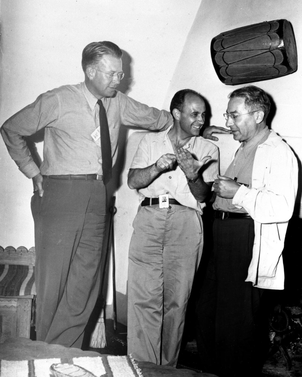 Ernest Orlando Lawrence Enrico Fermi And Isidor Isaac Rabi At A