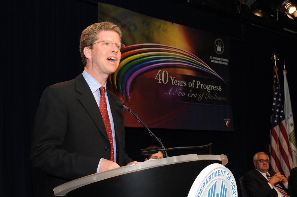"HUD chapter of the Federal GLOBE (Association of Lesbian, Gay,  Bisexual, Transgender Employees of the Federal Government) event,  [""40 Years of Progress--A New Era of Inclusion,""  with remarks by Secretary Shaun Donovan, Deputy Secretary Ron Sims,  Marion Mollegen McFadden of the Office of the General Counsel, and Congressman Barney Frank of Massachusetts]"