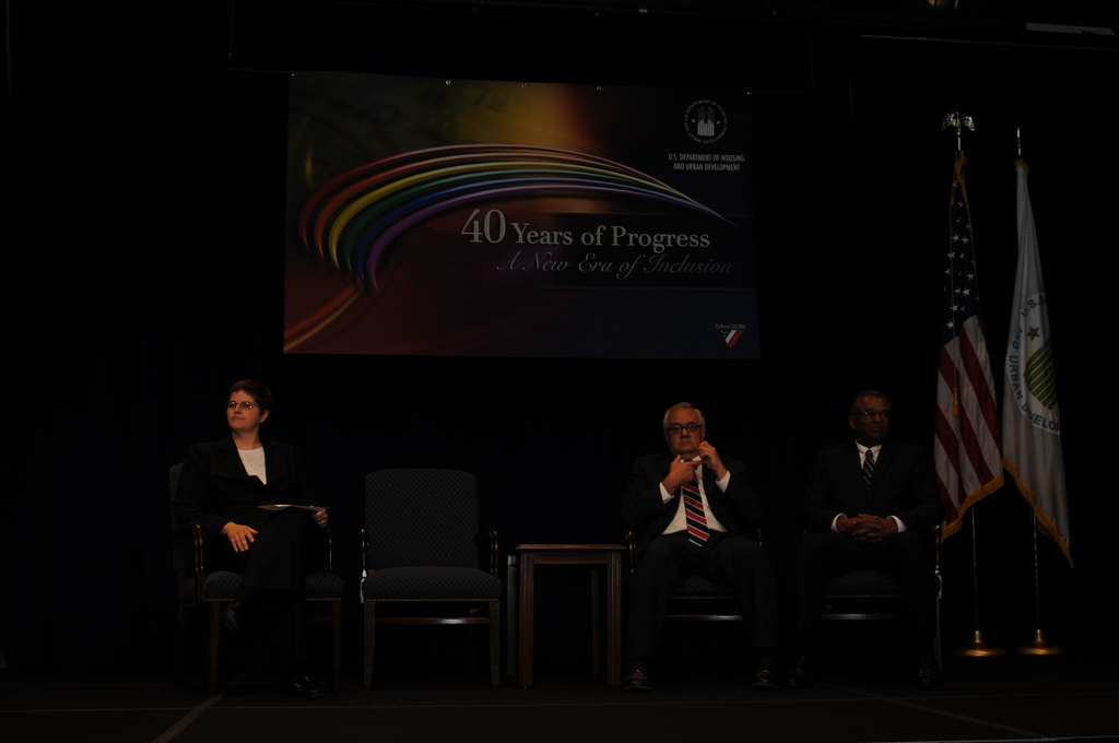 """HUD chapter of the Federal GLOBE (Association of Lesbian, Gay,  Bisexual, Transgender Employees of the Federal Government) event,  [""""40 Years of Progress--A New Era of Inclusion,""""  with remarks by Secretary Shaun Donovan, Deputy Secretary Ron Sims,  Marion Mollegen McFadden of the Office of the General Counsel, and Congressman Barney Frank of Massachusetts]"""
