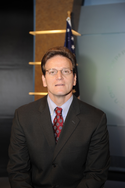 HUD Chief Financial Officer Doug Criscitello in HUD studio:  YouTube [broadcast] photos