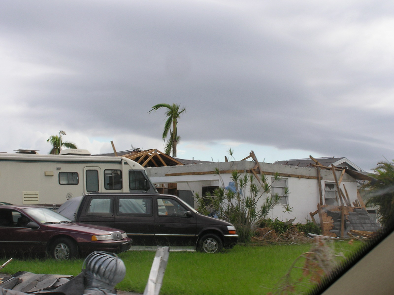 Hurricane Charley damage in west central Flordia.  [Among facilities affected:]  Sunrise Manor,  built by the Lake Wales Housing Authority.