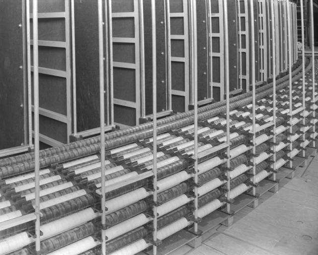 Internal winding, inner radius. Photograph taken April 9, 1951. Bevatron-412