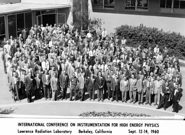 International Conference on Instrumentation for High Energy Physics; Lawrence Radiation Laboratory, Berkeley, California ; September 12-14, 1960. Morgue 1960-24 (P-1). [Photographer: Donald Cooksey]