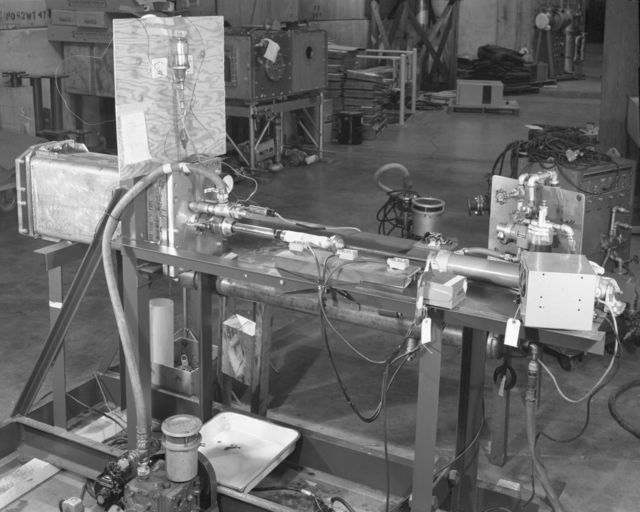Method of bearing loading cage. Photograph taken October 19, 1960. Bevatron-2146