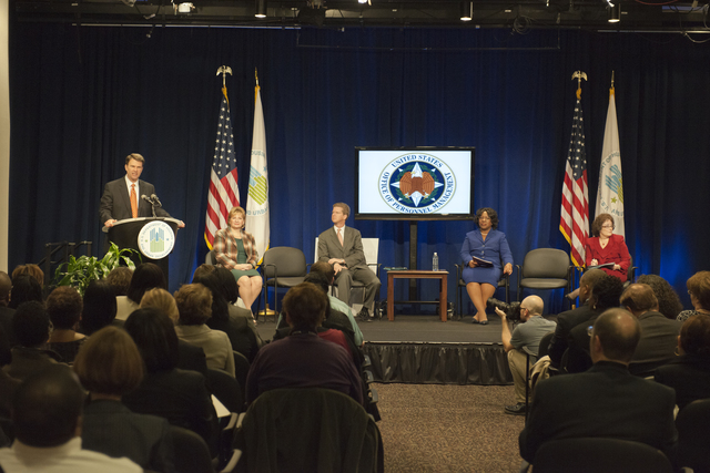 Office of Personel Management hiring reform update, [with Secretary Shaun Donovan among the speakers]
