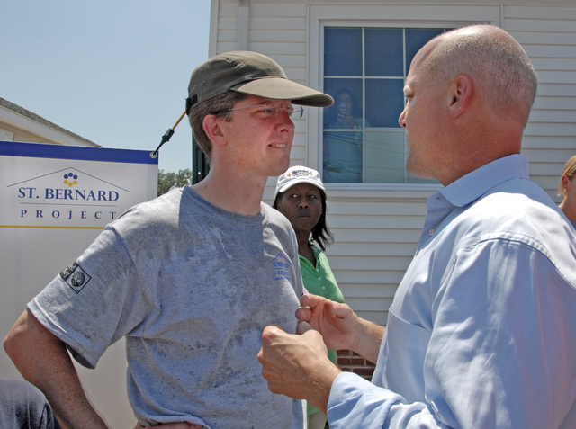 President Barack Obama's United We Serve Initiative kicked off Monday, June 22, 2009 with a National Day of Service.  Secretary Shaun Donovan spent the day working on homes in the New Orleans, Louisiana area.