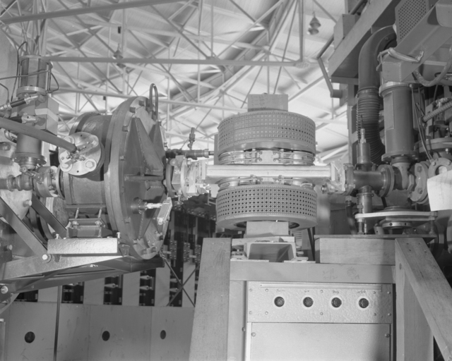 Proton buncher. Photograph taken July 29, 1954. Bevatron-767. ZN-1022