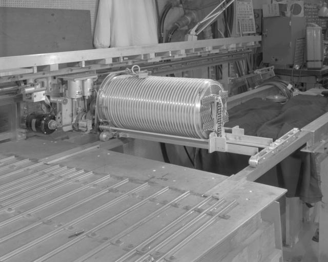 Retrieval mule for traveling target Mark VIII. Photograph taken June 14, 1965. Bevatron-3847 – Photographer: George Kagawa