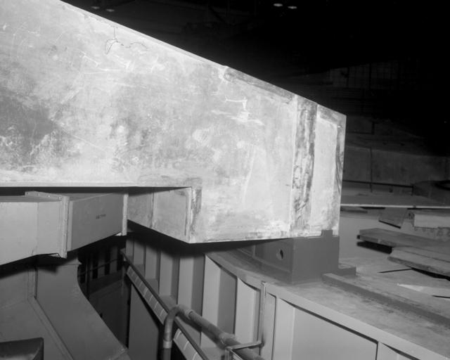 Roof shielding key. Photograph taken January 13, 1963. Bevatron-3293 – Photographer: Doug Bradley