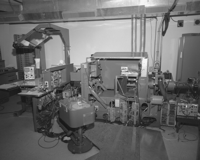 Scanning projectors, spiral reader and associated equipment. Photo requested by Bob Atchison. Photograph taken December 15, 1964. Bubble Chamber-1430 -  Photographer: George Kagawa