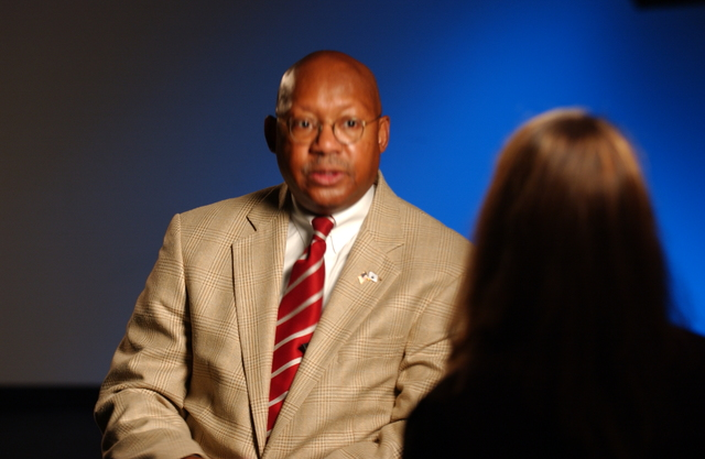 Secretary Alphonso Jackson in New York City, New York [for Hurricane Katrina-related interview following Habitat for Humanity promotion on NBC Today Show]