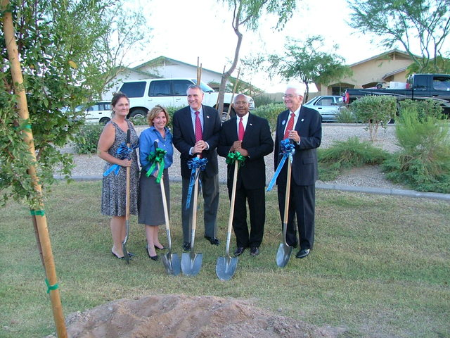 "Secretary Alphonso Jackson in Phoenix, Arizona  [to participate in] HUD-Habitat for Humanity  [""Building America"" press conference]"