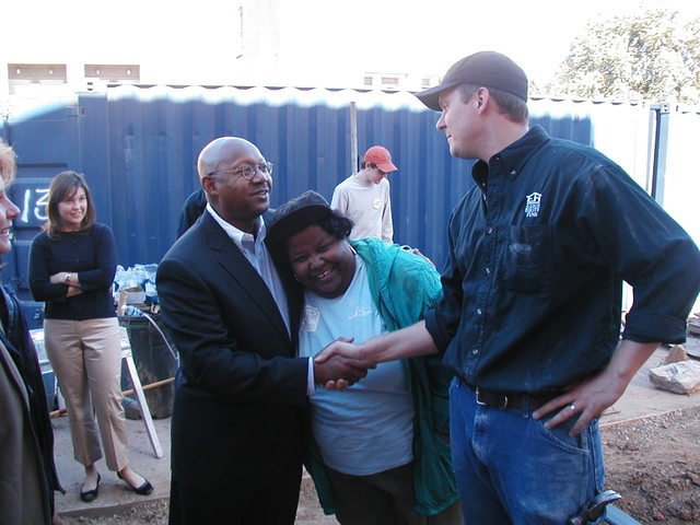 Secretary Alphonso Jackson in St. Louis, Missouri for Habitat for Humanity build