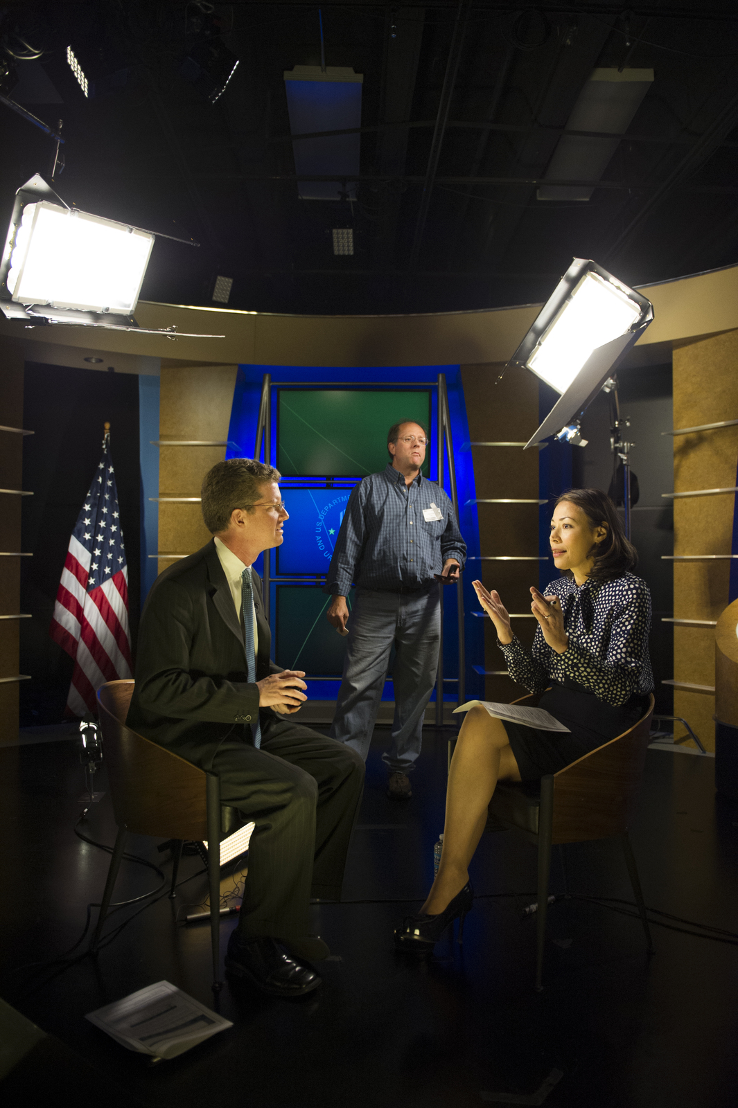 [Secretary Shaun Donovan giving] interview, [tour of HUD headquarters, to NBC's] Anne Curry