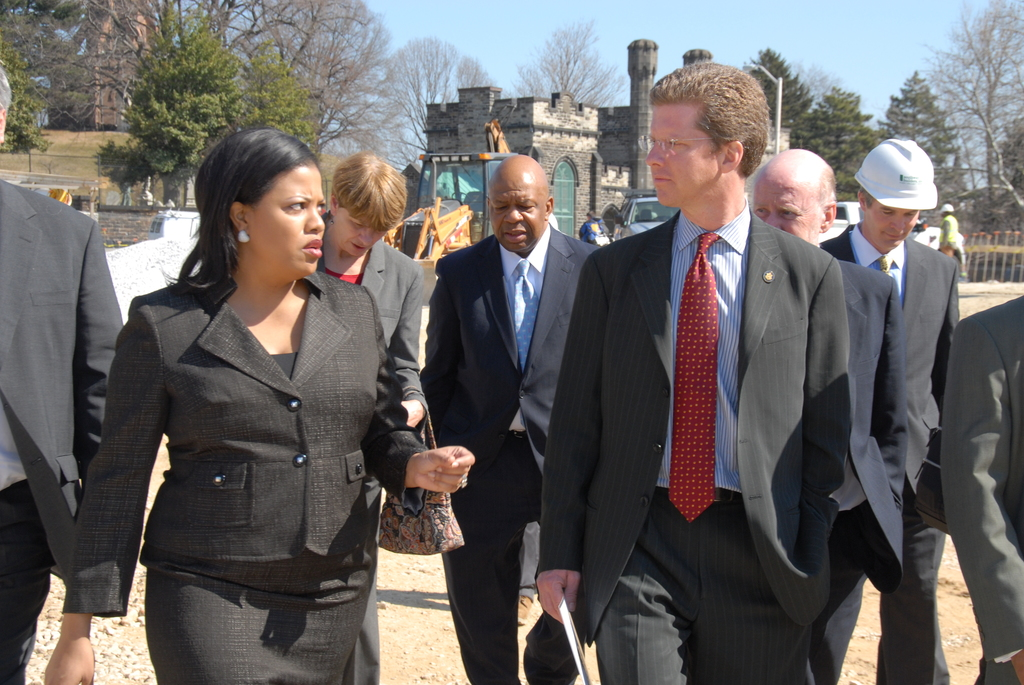 Secretary Shaun Donovan in Baltimore, Maryland  [for tour of, and press conference promoting, the City Arts Apartments construction project in the Station North area of the city.  The City Arts Apartments project is being developed by Homes of America, Jubilee, and TRF Development Partners in Baltimore, and is expected to create or save over 160 jobs for Baltimore residents. Secretary Donovan was joined on the tour by Maryland Congressman Elijah Cummings, Baltimore Mayor Stephanie Rawlings-Blake, Maryland Department of Housing and Community Development Secretary Raymond Skinner, other state and local officials, and corporate partner representatives.]