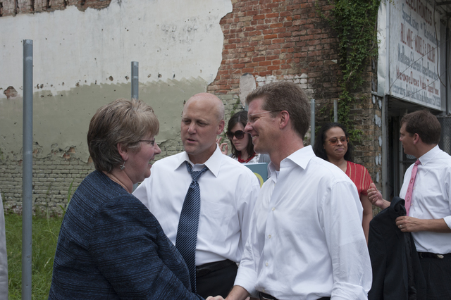 Secretary Shaun Donovan in New Orleans, Louisiana  [area, where he participated in activities marking the fifth anniversary of Hurricane Katrina, including testimony at a Senate Subcommittee on Disaster Recovery hearing at Chalmette Elementary School;  tours of damaged, rebuilding, and restored residential and commercial districts, in the company of New Orleans Mayor Mitch Landrieu, Louisiana Senator Mary Landrieu, and other national, state, and local officials;  and remarks on recovery progress at reconstruction sites run by the St. Bernard Project and other non-profit organizations]
