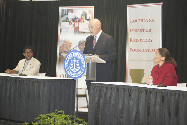 Secretary Shaun Donovan in New Orleans, Louisiana  [area, where he participated in activities marking the fifth anniversary of Hurricane Katrina, including an address on recovery progress at a Louisiana Disaster Recovery Foundation event at Dillard University;  and tours of damaged, rebuilding, and restored residential and commercial districts]