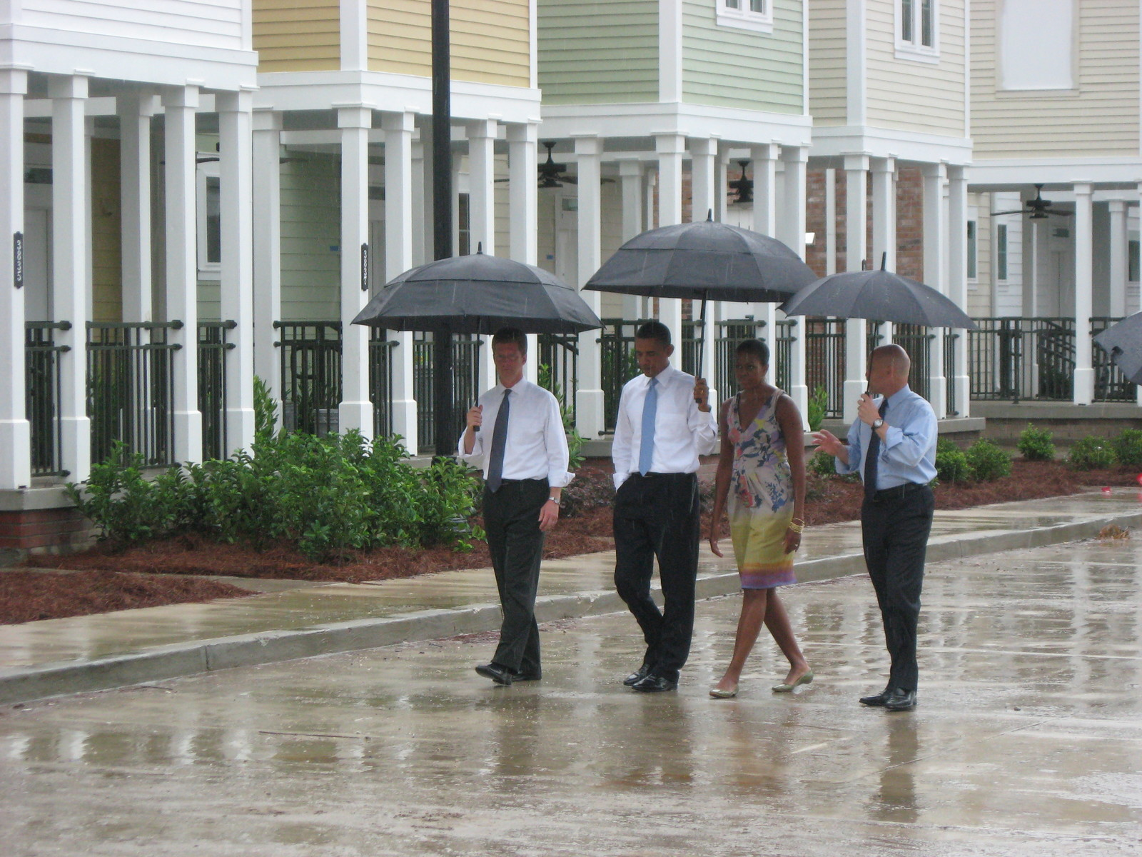 Secretary Shaun Donovan in New Orleans, Louisiana,  [where he joined] President Barack Obama, [First Lady Michelle Obama, and New Orleans Mayor Mitch Landrieu for a tour of the Columbia Parc Housing Development, and events marking the]  fifth anniversary of Hurricane Katrina