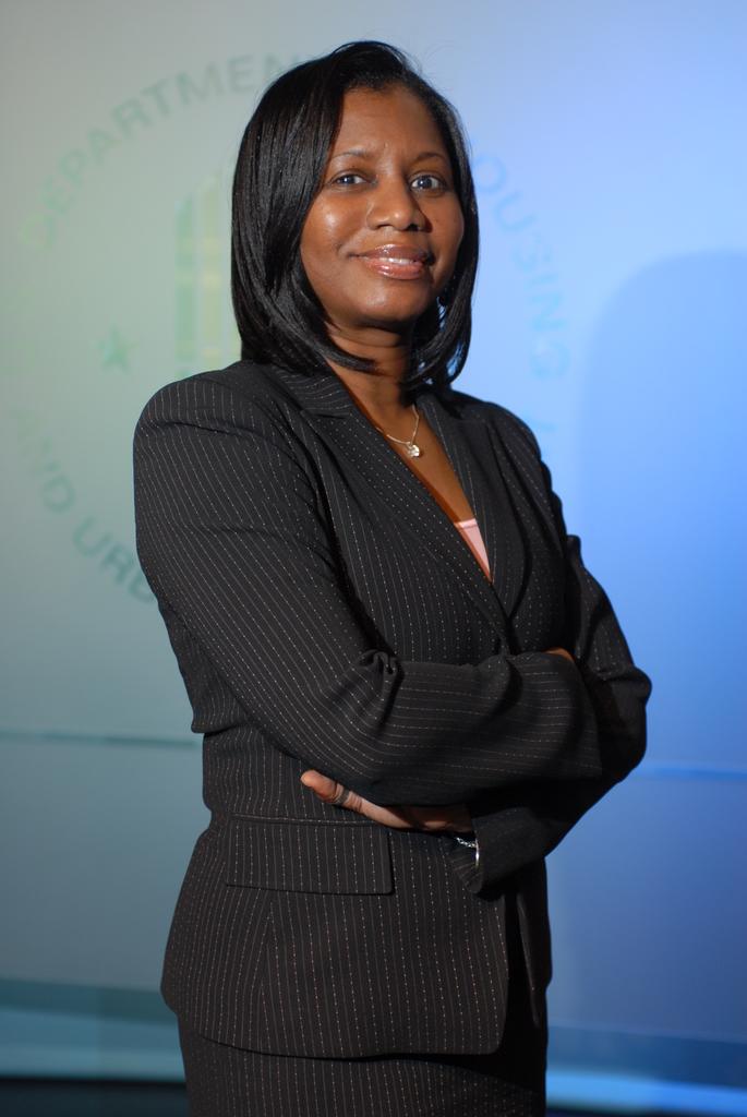 Select [closeups of] Tawanna Preston, Executive Operations Officer, Office of the Secretary