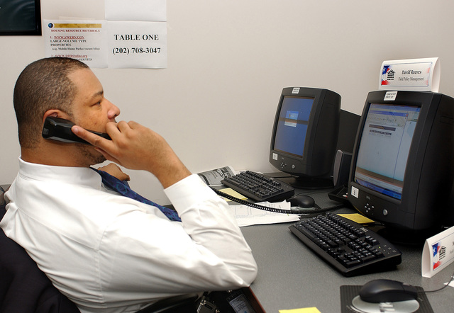 [Select views:]  HUD Recovery and Response Center [officials, operations in wake of Hurricane Katrina]