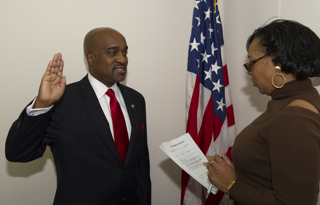 Swearing-in ceremony for Antonio Riley, HUD Region V (Midwest) Administrator