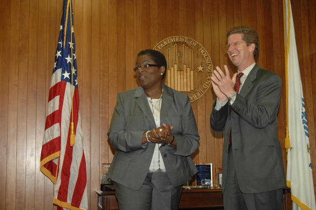 Swearing in ceremony for Sandra Henriquez,  Assistant Secretary for Public and Indian Housing,  [with Secretary Shaun Donovan presiding]