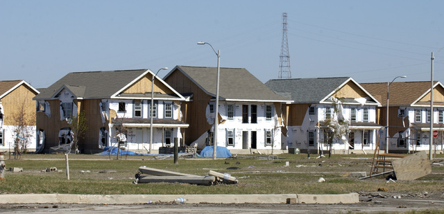 Tour, [by Secretary Alphonso Jackson and other HUD officials,] of Hurricane Katrina damage in Ward Nine, New Orleans, Louisiana
