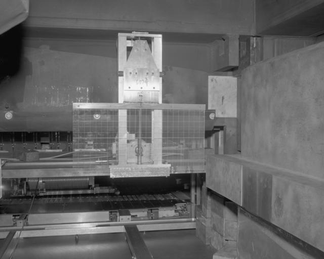 Tow mule Bevatron experiment facility gap-mounted flip target. Photograph taken December 29, 1965. Bevatron-3998 – Photographer: Doug McWilliams